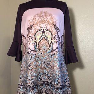 New York and Company Paisley Print Dress
